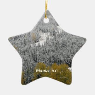 Snowy Scene in Whistler, B.C. Christmas Ornament