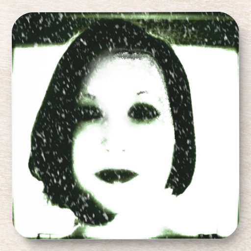 Snowy Self Portrait Drink Coasters