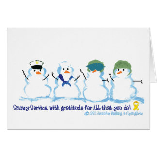 Snowy Service Notecards Note Card