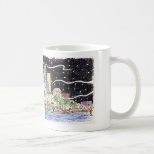 Snowy Skyline mug