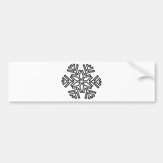 snowy snowflake winter icon bumper sticker