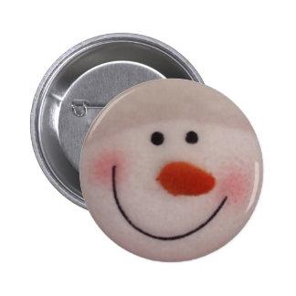 Snowy Snowman 6 Cm Round Badge