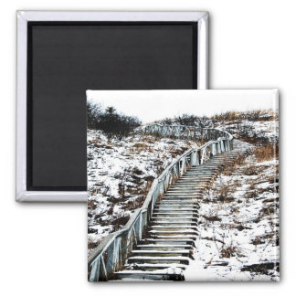 Snowy Staircase Magnet