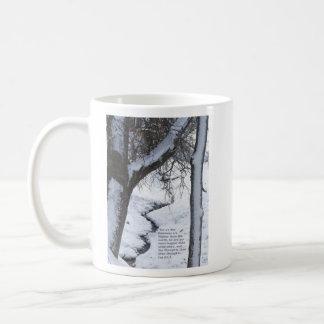 Snowy Stream Basic White Mug