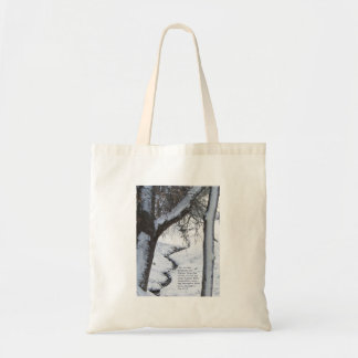 Snowy Stream Budget Tote Bag