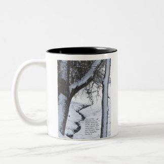 Snowy Stream Two-Tone Mug