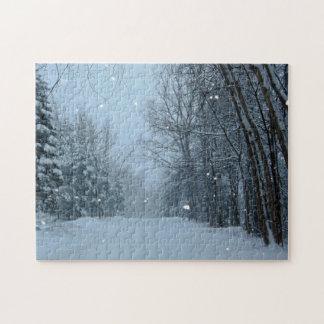 Snowy Street Jigsaw Puzzle