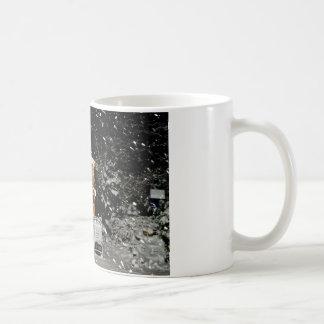 snowy summer house winer scene mugs