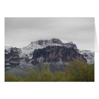 Snowy Superstition Mountains Greeting Card