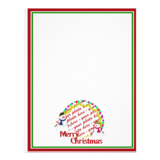 Snowy Sweethearts Christmas Photo Frame Custom Flyer