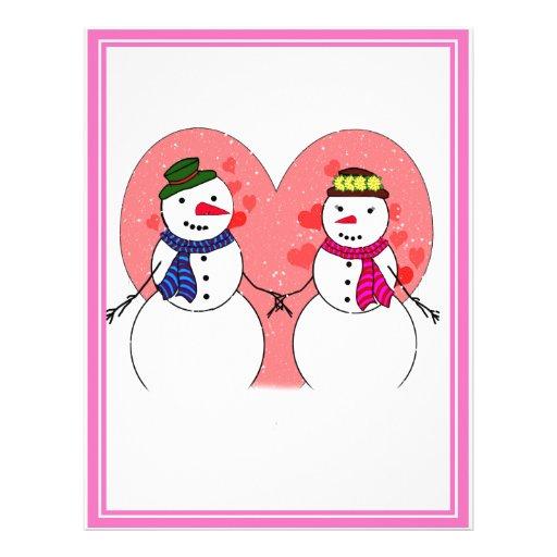 Snowy Sweethearts Flyer Design