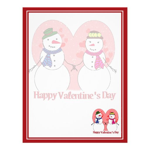 Snowy Sweethearts - Happy Valentine's Day Flyers