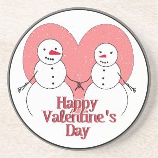 Snowy Sweethearts Valentine Coasters