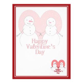 Snowy Sweethearts Valentine Flyer Design