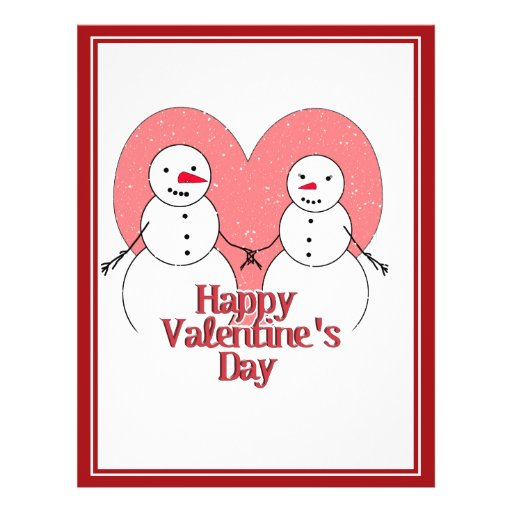 Snowy Sweethearts Valentine Flyer