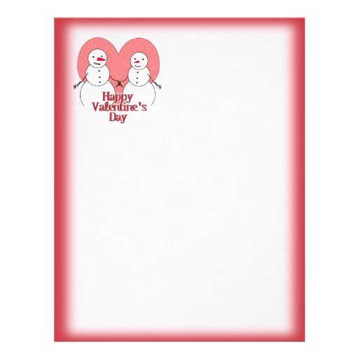 Snowy Sweethearts Valentine Personalized Flyer