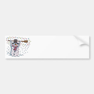 Snowy the Snowman Bumper Sticker