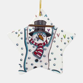 Snowy the Snowman Christmas Ornament