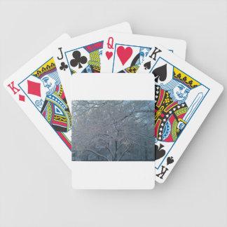 Snowy Tree Poker Cards