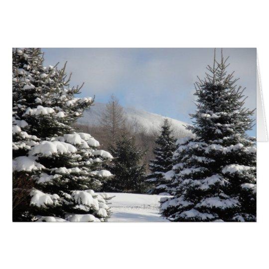 snowy tree scene card