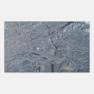 Snowy Tree Stickers