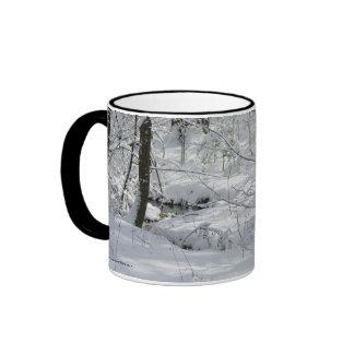 Snowy Trees And Stream Mug