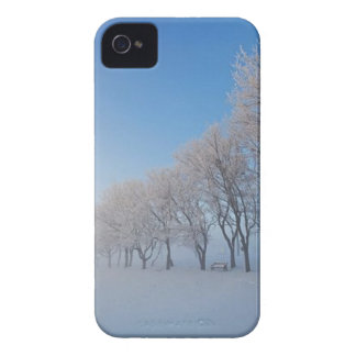 Snowy trees blackberry phone case iPhone 4 Case-Mate case
