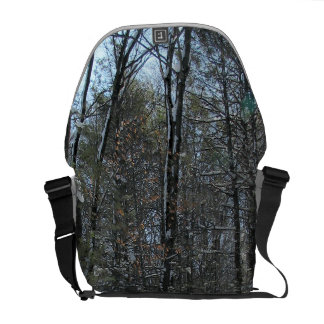 Snowy Trees Messenger Bags