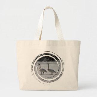 Snowy Trumpeter Swans Jumbo Tote Bag