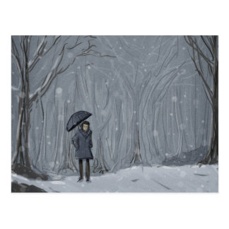 Snowy Walk Postcard