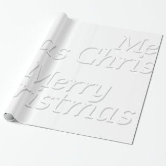 Snowy White Merry Christmas Wrapping Paper