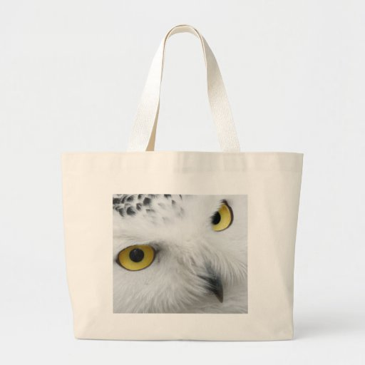 Snowy White Owl with Piercing Eyes Canvas Bag