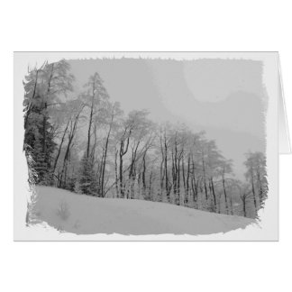 Snowy White Tips Greeting Card