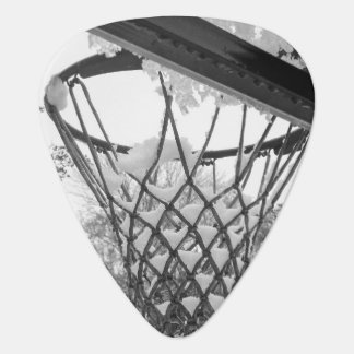 Snowy Winter Basketball Net Plectrum