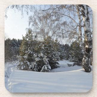 Snowy Winter Day Drink Coaster