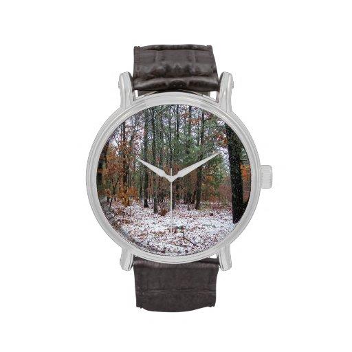 Snowy Winter Forest Hunting Scene Watch