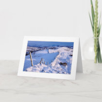 Snowy Winter Landscape Card