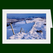 Snowy Winter Landscape Greeting Card