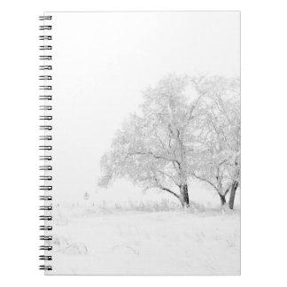 Snowy Winter Landscape Photography Notebook