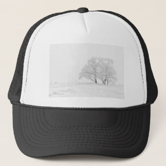 Snowy Winter Landscape Photography Trucker Hat