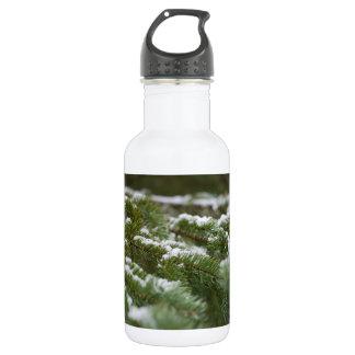Snowy Winter Pine Tree 532 Ml Water Bottle