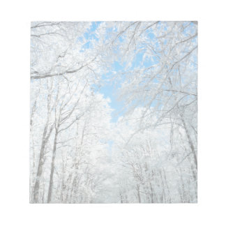 Snowy Winter Road Scene Notepad