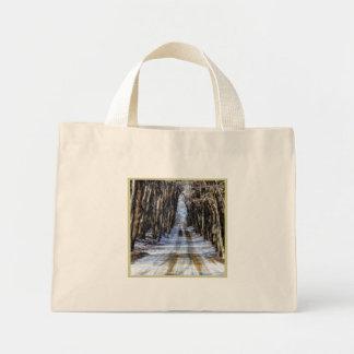 Snowy Winter Road Small Bag