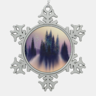 Snowy Winter Scene Keepsake Ornament