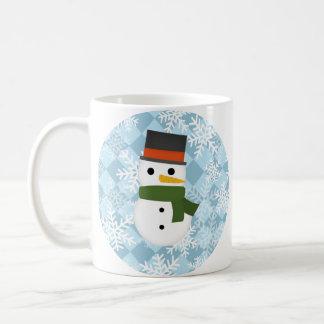 Snowy winter scene coffee mugs