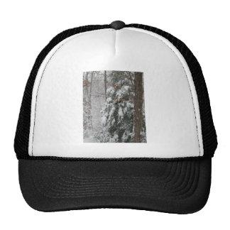 Snowy Winter Tree Scene Trucker Hat