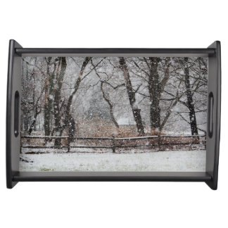 Snowy Winter's Day Serving Tray