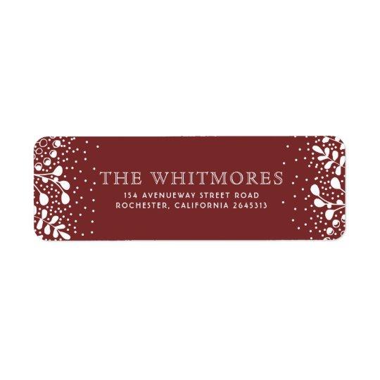 Snowy Wonderland Red Christmas Return Address Label