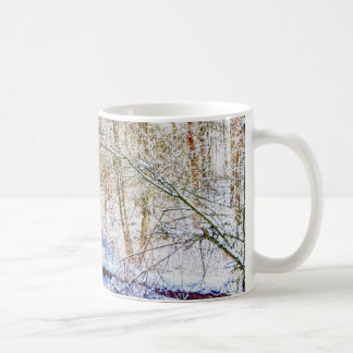 Snowy Woodland Path Coffee Mug