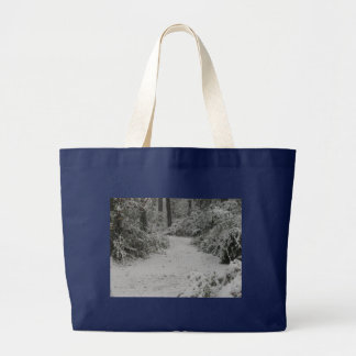 Snowy Woods Canvas Bags